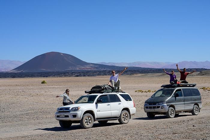 dve terenski vozili v argentinski puni