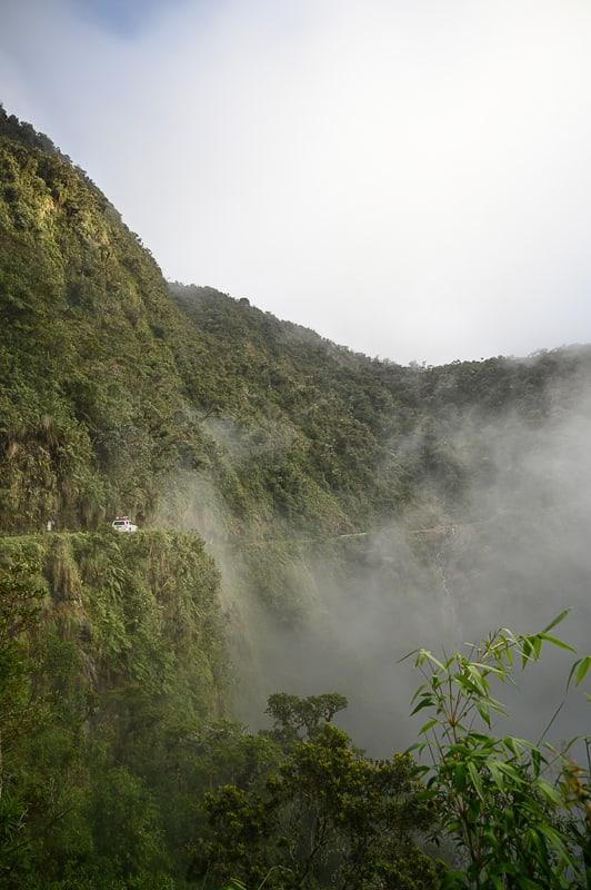 cesta smrti, death road v Boliviji