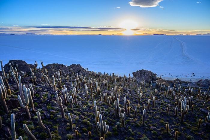 Sončni zahod na otoku Incahuasi