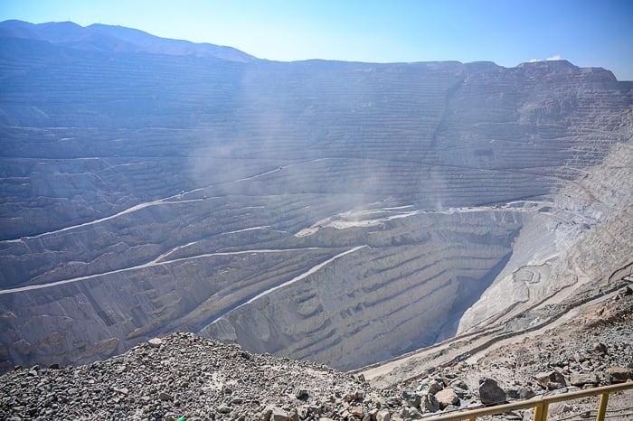 odprti kop rudnika Chuquicamata