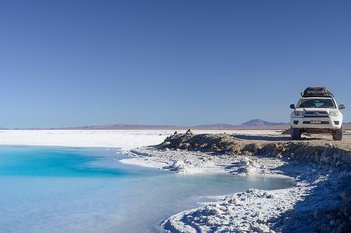 Toyota 4runner ob slanem jezeru
