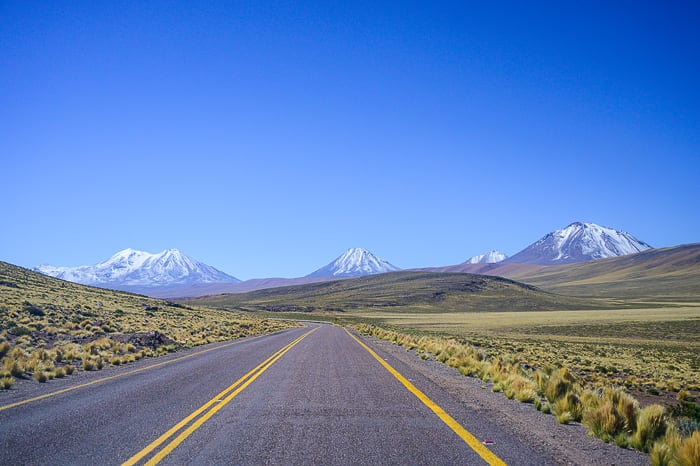 cesta proti vulkanom, Čile