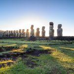 Ahu Tongariki sončni vzhod