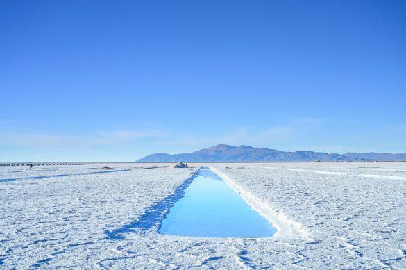 dehidracijski bazenčki v Salinas Grandes