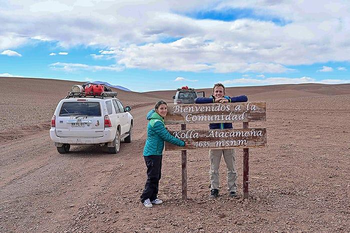 severna Argentina, prelaz na 4600m