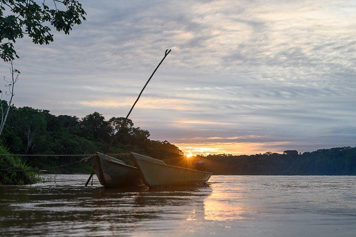 sončni vzhod na amazonki