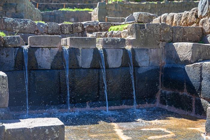 Vodni kanali v Tiponu, Sacred Valley