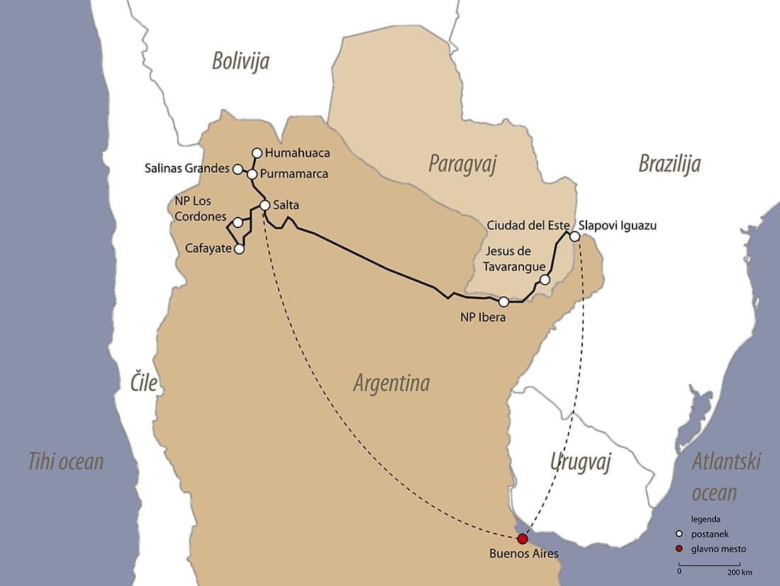 Načrt potovanja argentina paragvaj