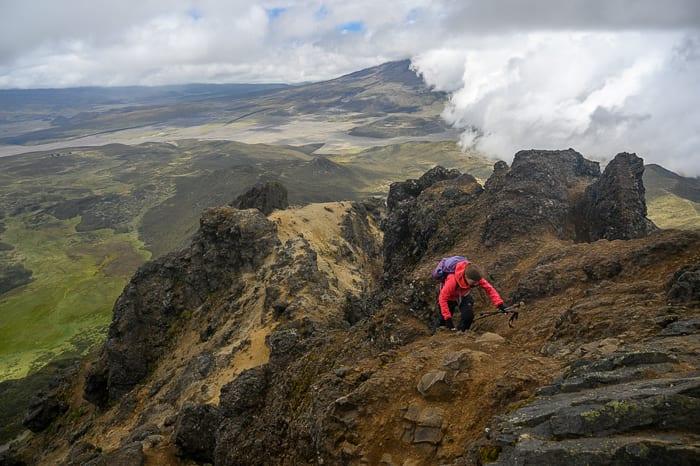 ženska pleza na vulkan Rumiñahui