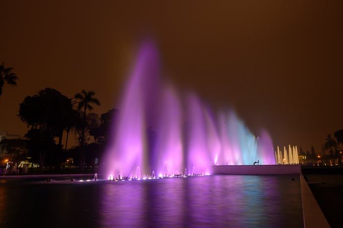water light show, lima