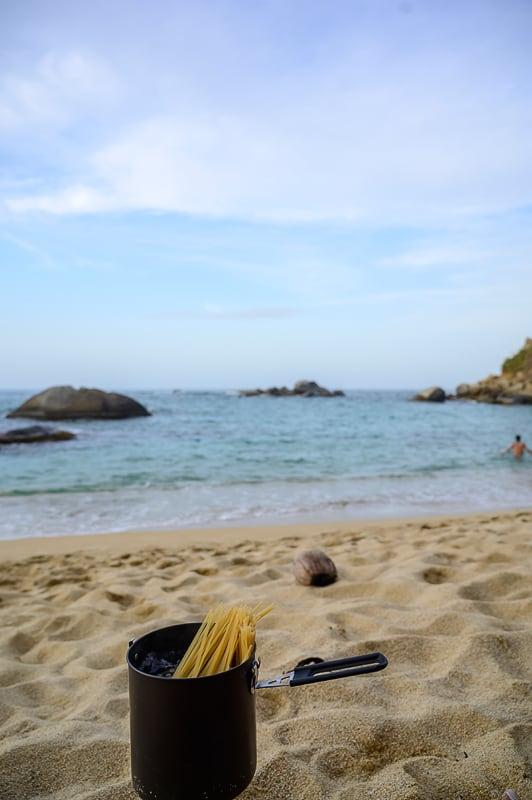 špageti na plaži Cabo San Juan