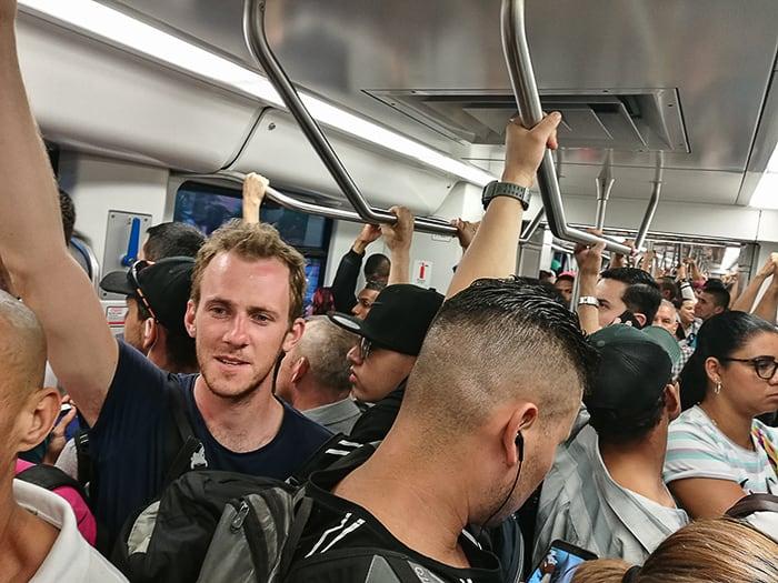 gneča metro Medellin