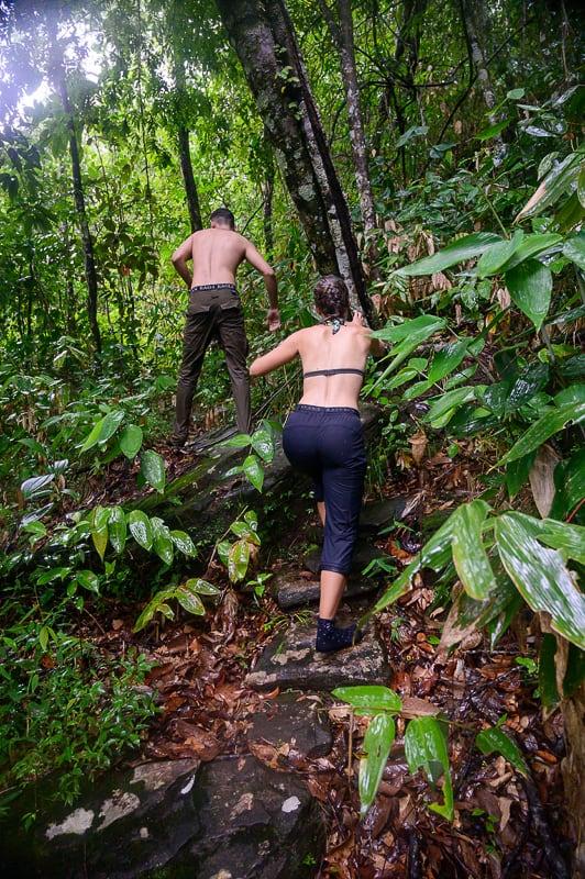 jungle trek v nogavicah