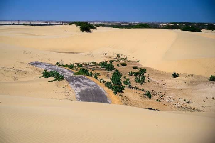 cesta v puščavi Medanos de Coro