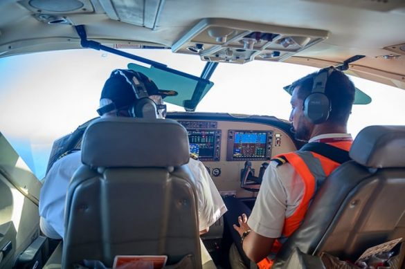 pilota v kabini