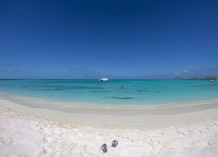 karibska plaža na Los Roques