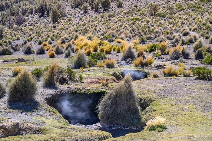 Termalni bazenčki, nacionalni park Sajama