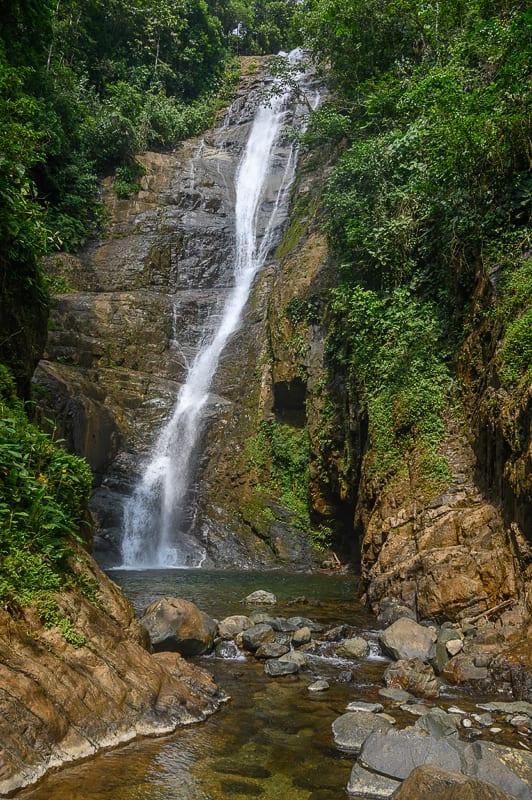 slap Siete Cascadas, Ekvador