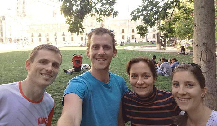 skupinska slika v Santiagu