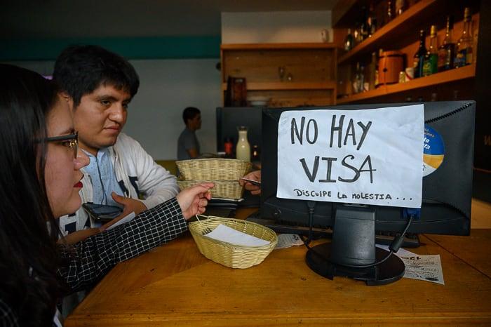 napis No Hay Visa v peruju. Nasveti za Peru - finance