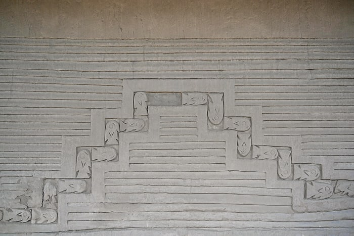 reliefna poslikava mesta Chan Chan, Peru