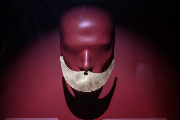 obrazna maska iz zlata, sipan
