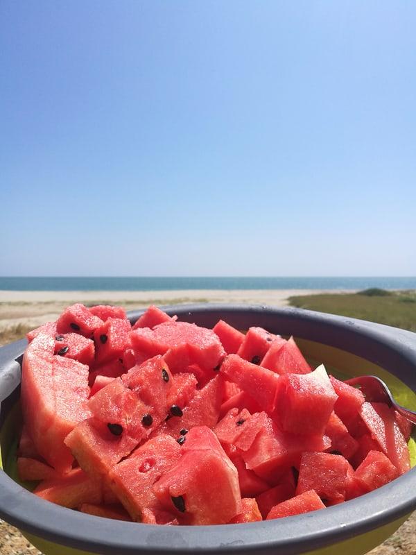 lubenica na plaži