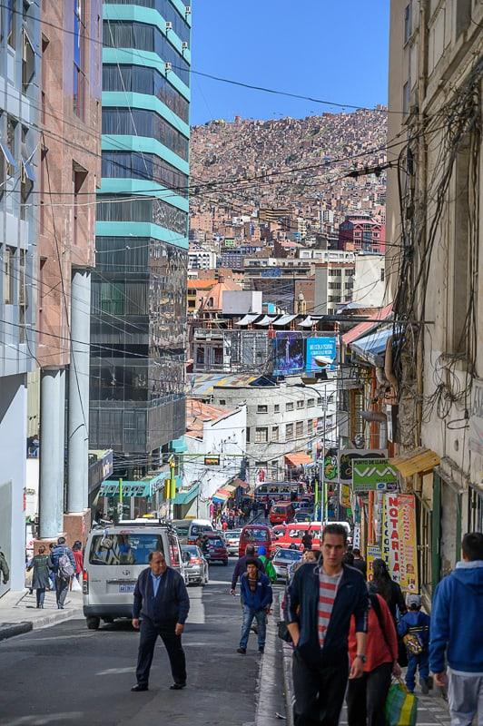 ulica v La Pazu, Bolivija