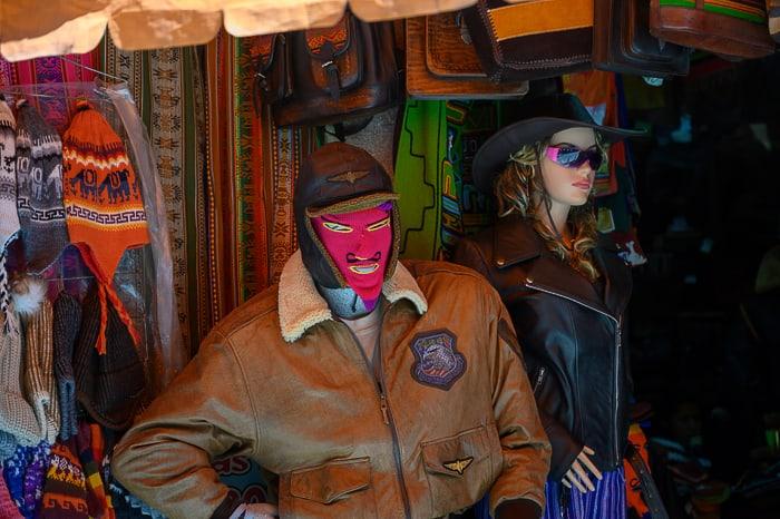 Diabolo Bolivia maska hudča