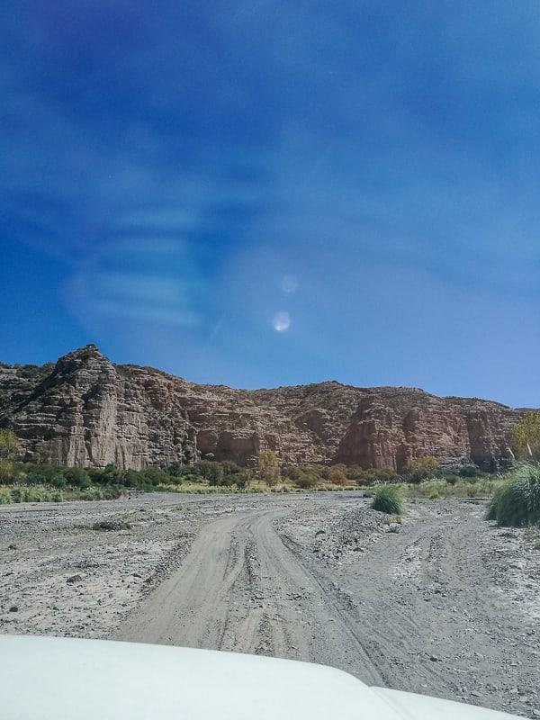 makadamska cesta v Boliviji
