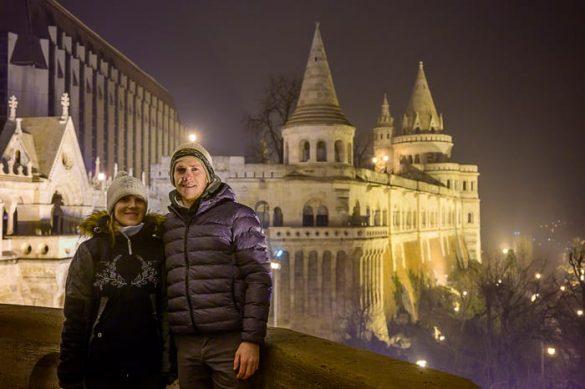 moški in ženska v Budimpešti