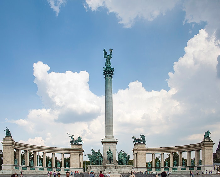 trg herojev, budimpešta