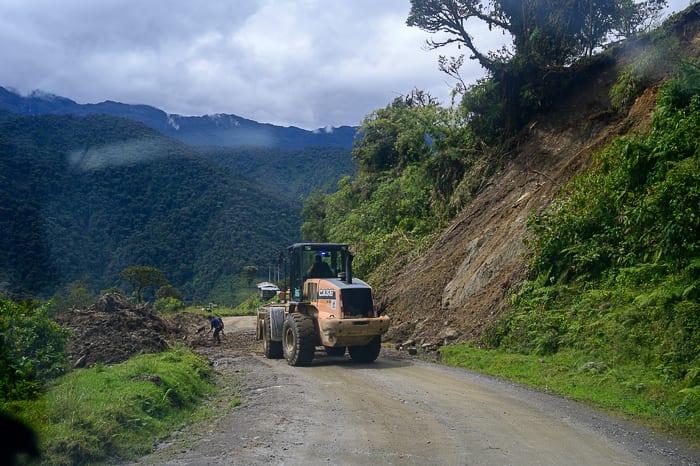 bager na cesti, ekvador