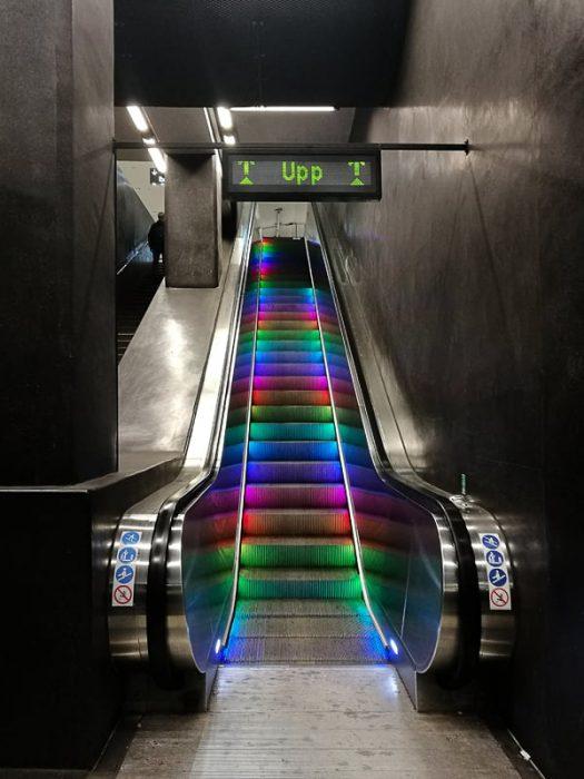 tekoče stopnice Stockholm metro