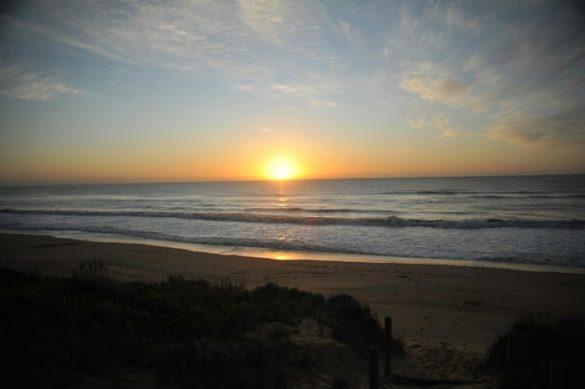 sončni vzhod 90 mile beach Avstralija