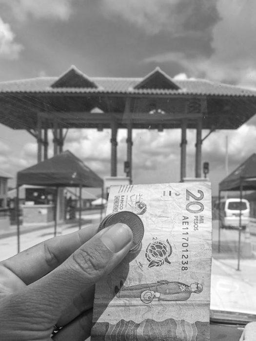 plačilo cestnine v Kolumbiji