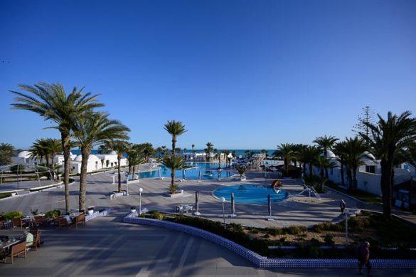 bazen v hotelu, Djerba