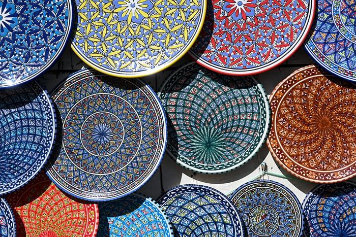 tunizijski poslikani krožniki