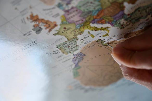 zemljevid Afrike