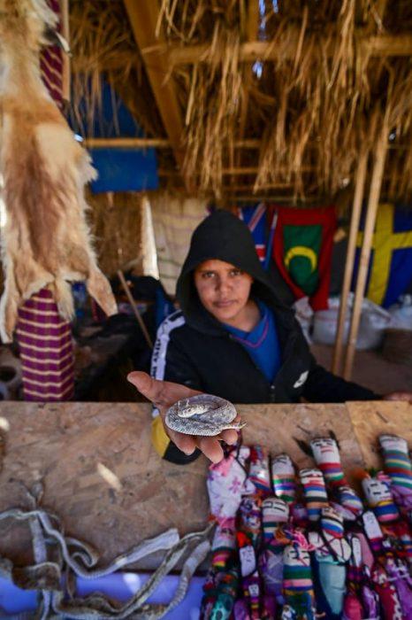prodajalec v Tuniziji
