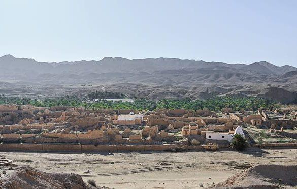 zapuščena vasica ob oazi Chebika, tunizija
