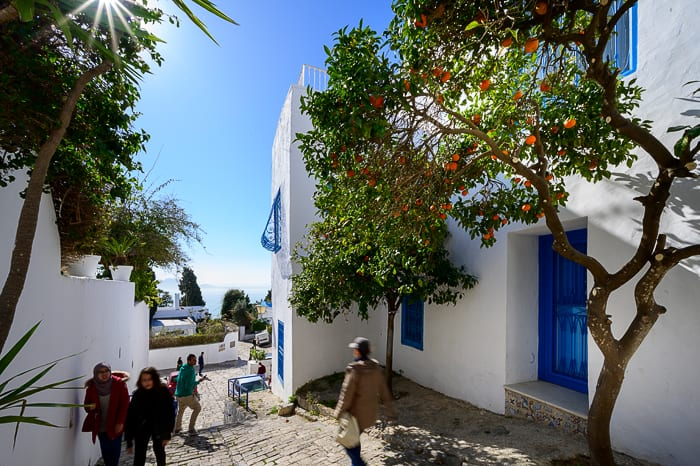 ulica v Sidi Bou Said