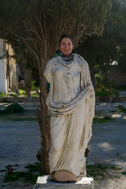 rimski kip v Kartagini