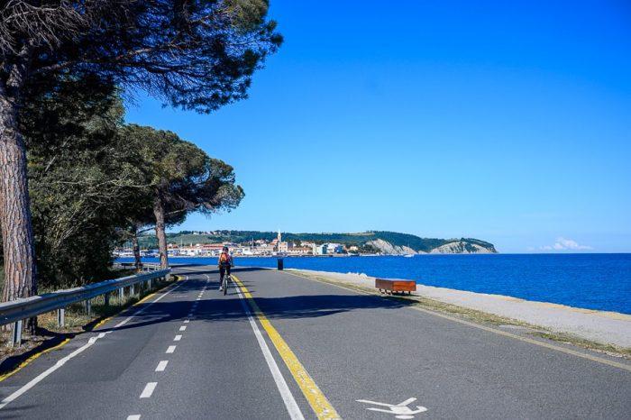 kolesarjenje ob morju