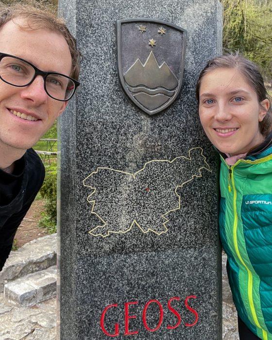 ženska in moški na GEOSSu, geometrijsko središče slovenije