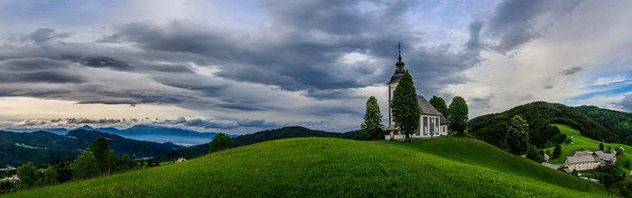 Bukov vrh, cerkev sv. sobote, poljanska dolina