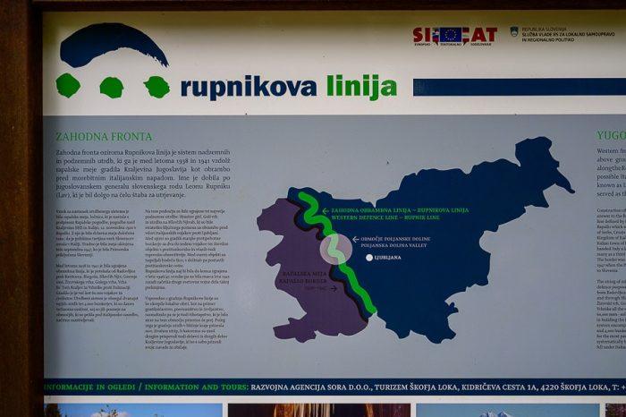 zemljevid Rupnikova linija