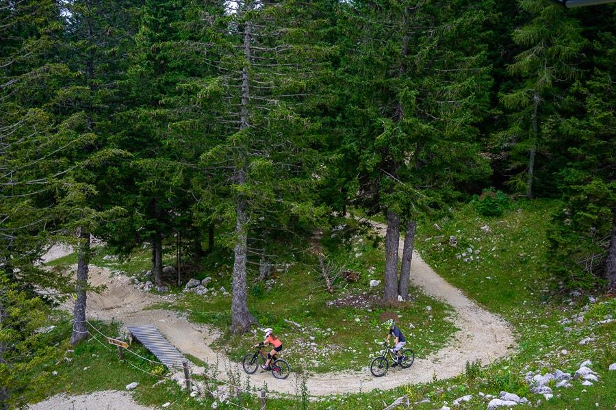 Bike park Krvavec. Gorski kolesarji na Krvavcu