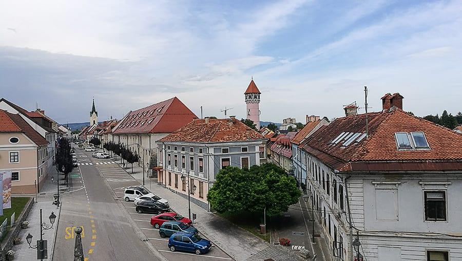 panorama mesta Brežice