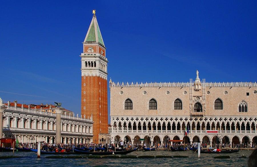 Benetke - izlet v Italijo: Campanille in Doževa palača